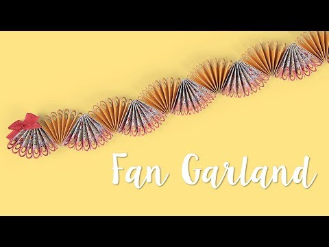 How to Make a Fan Garland!