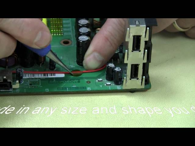 This video demonstrated the use of BEST Inc HotDots(TM) which allow wires to be affixed to the PCB or other surfaces-even when those surfaces go through reflow. There are other similar products out there but none of which can be readily customized nor whc