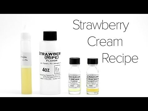Video DIY E-Liquid Recipe : Strawberry Cream