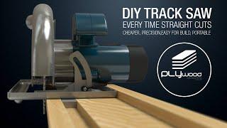 DIY Simple Circular Saw Track Saw Guide   Homemade Track Saw
