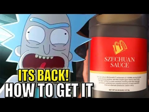 McDonald's Szechuan Sauce Officially Back - How to Get it | Rick and Morty