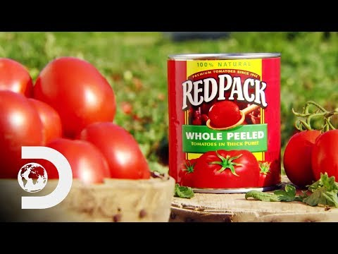 , title : 'CANNED TOMATOES | How It's Made