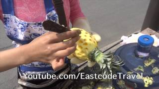 pineapple eye removing  Chengdu street China