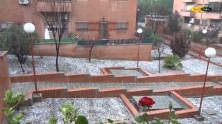 preview picture of video 'Granizada Monumental en San Fernando de Henares  3 de Julio 2014'