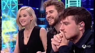 """Джош Хатчерсон, Seguda Parte Liam Hemsworth, Josh Hutcherson y Jennifer Lawrence en """"El Hormiguero"""""""