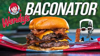 Wendy's Baconator Burger - But Homemade... & WAY BETTER!   SAM THE COOKING GUY 4K
