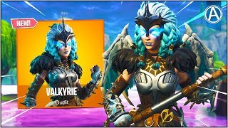 "NEW ""VALKYRIE"" SKIN Gameplay! (Fortnite Battle Royale ""SKIN UPDATE"")"