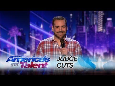 Harrison Greenbaum: Comic Hilariously Details A Surprising World Record - America's Got Talent 2017