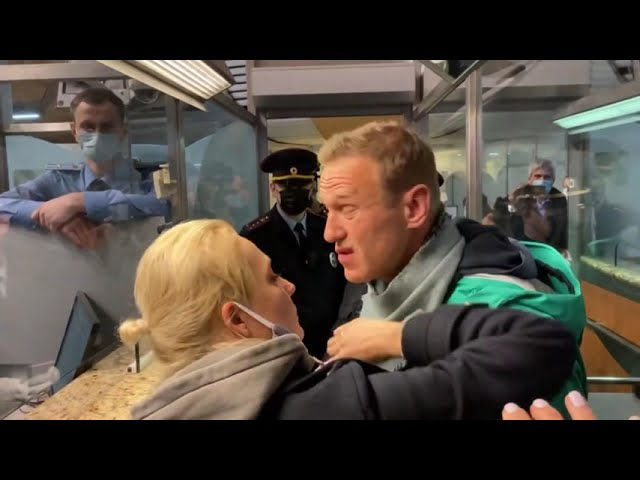 Police detain Kremlin critic Navalny at Moscow airport
