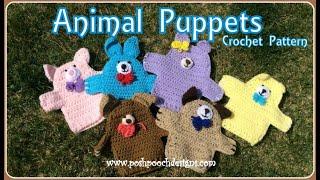 Animal Puppets Crochet Pattern  #crochet #crochetvid