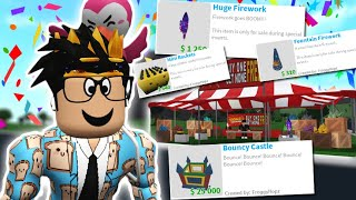 THE NEW BLOXBURG UPDATE! NEW FIREWORKS, BOUNCY CASTLE AND MORE!