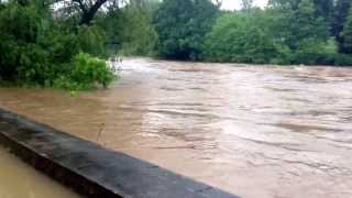 preview picture of video 'Hochwasser in Colditz'