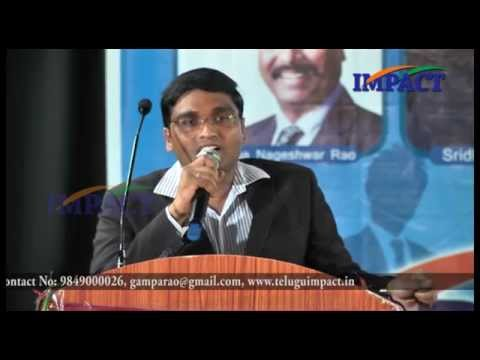 Civils Prepare|Sridhar Babu Addaniki| TELUGU IMPACT HYD SEPT 2015