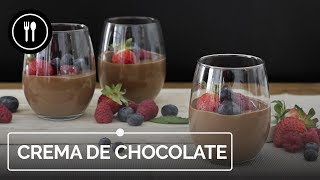 Crema de CHOCOLATE con frutos rojos, receta fácil (con y sin robot de cocina) | Directo al Paladar