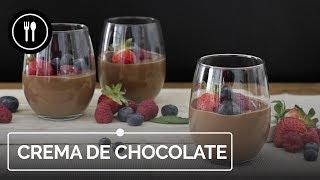 Crema de CHOCOLATE con frutos rojos, receta fácil (con y sin robot de cocina) | Directo al Paladar