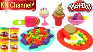 KN Channel Đồ chơi trẻ em Bé Na làm kem bằng đất nặn siêu đẹp