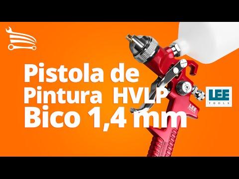 Pistola de Pintura HVLP 600 ml e Bico 1.4 mm - Video
