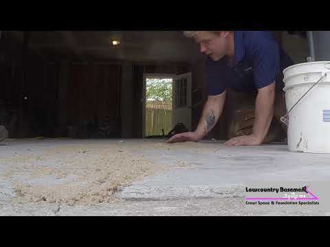 Watch in this time-lapse video how the Lowcountry Basement Systems crew helped lift and level a sunken concrete slab using the revolutionary PolyLevel System. PolyLevel is a superior alternative to mudjacking. Fast, no mess application, with virtually no downtime. PolyLevel cures in minutes and is long-lasting and environmentally friendly.