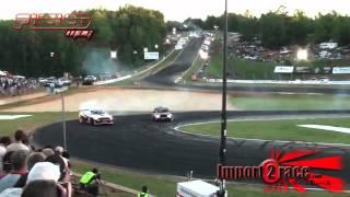 GT-R R35 vs BMW V10 drifting @ Road Atlanta 2010