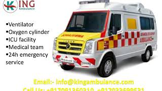 Book Instantly Ambulance Service in Kankarbagh and Danpur Patna by King