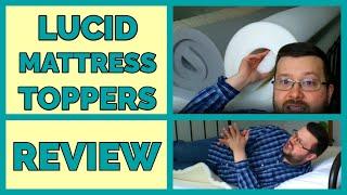 Lucid Mattress Topper Comparison - Bamboo Charcoal vs. Traditional Foam