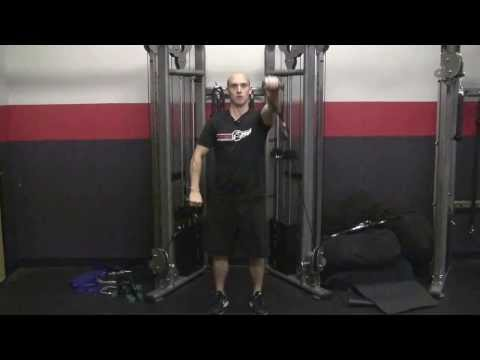 Standing Cable Alternating Front Raises