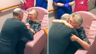video: Watch: 'My darling I waited so long for this' - Moment couple reunited at care home as husband moves in