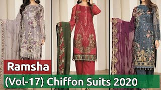 RAMSHA (VOL-17) Latest And Stylish Chiffon Dresses 2020   New Pakistani Chiffon Suits