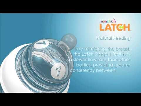 Latch Munchkin стерилизатор СВЧ в наборе с бутылочками  2шт., ершик