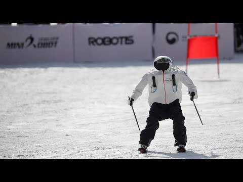 Skiing robots hit the slopes in South Korea