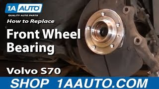 How To Replace Front Wheel Bearing & Hub Assembly 1998 Volvo S70