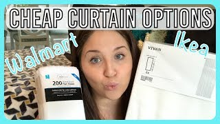 Cheap Curtain Options - Walmart Vs Ikea
