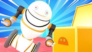 Tiny Trucks - Robot asssistant - Kids Animation with Street Vehicles Bulldozer, Excavator & Crane