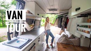 "VAN TOUR | DIY Sprinter 144""WB with Shower and Closet | Wando Tales"