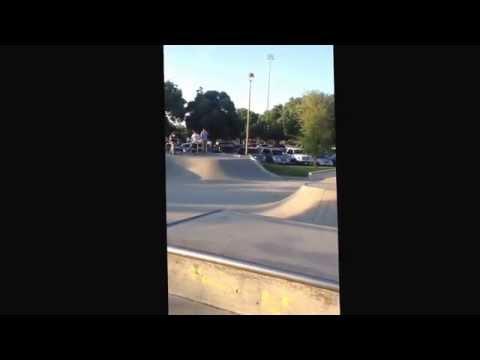 Dixon skate park.ralph doing backflip