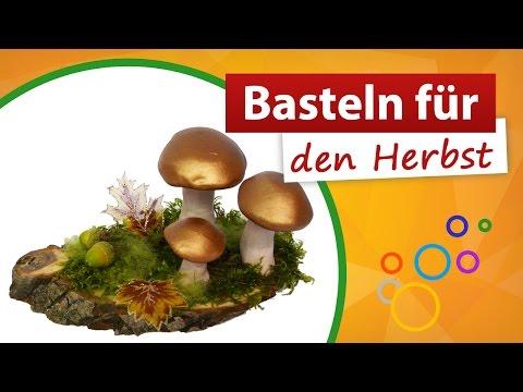 ♥ Basteln für den Herbst ♥ Pilz Deko - trendmarkt24