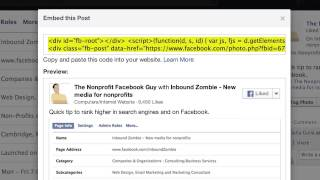 How to Embed a Facebook Update into Your Website or Blog