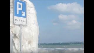 preview picture of video 'voiture et quai sous la glace à Versoix'