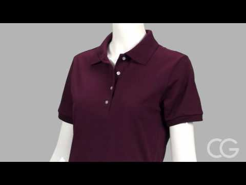 Misses Relaxed Fit Jerzees Spotshield Polo Shirt - Customized Girl