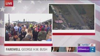 Thousands line tracks as Bush 41 train passes through Klein area