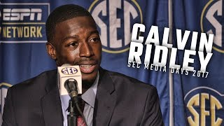 Alabama WR Calvin Ridley speaks at SEC Media Days 2017