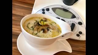 Грибной суп с фрикадельками в термомикс