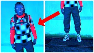 GTA 5 - Black Joggers With Checkerboard Vest And Shoes (PS3/Xbox 360)