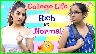 College Life - RICH vs NORMAL | #Fun #Sketch #RolePlay #Anaysa #ShrutiArjunAnand