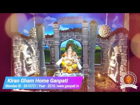 Kiran Gham Home Ganpati Decoration Video