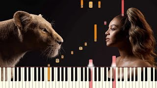 Spirit   Beyoncé (From Disney's The Lion King) | Piano Tutorial (Synthesia)