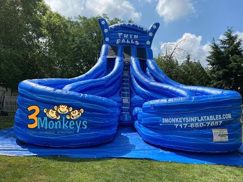 Twin Falls 22ft Curved Water Slide Rental