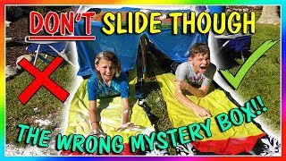 DON'T SLIDE THROUGH THE WRONG MYSTERY BOX! | We Are The Davises