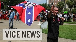 Raw Coverage of the KKK's Confederate Flag Rally in South Carolina