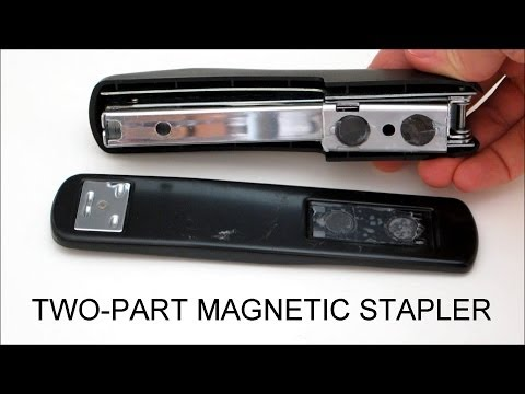 Replace Stapler Hinges With Magnets For Extra Large Projects